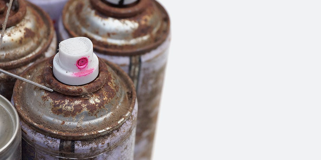 Photo 1Col Large Transfer Station Hazardous Paint Cans